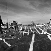 Circo Magnum / Desarme de la carpa, Malvín Norte, Montevideo, el 28 de agosto de 1995.