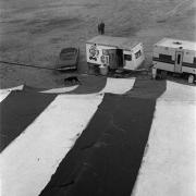 Circo Magnum / Vista desde arriba de la carpa en Malvín Norte, Montevideo, el 27 de agosto de 1995.