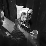 Magnum Circus / A boy waits to get his ticket in Colón neighbourhood, on July 9, 1995.